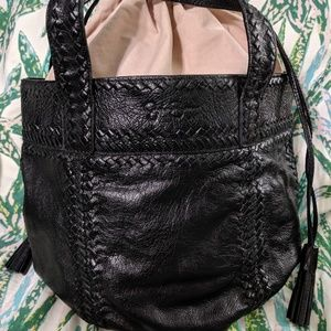 Jessica Simpson rare black leather bag